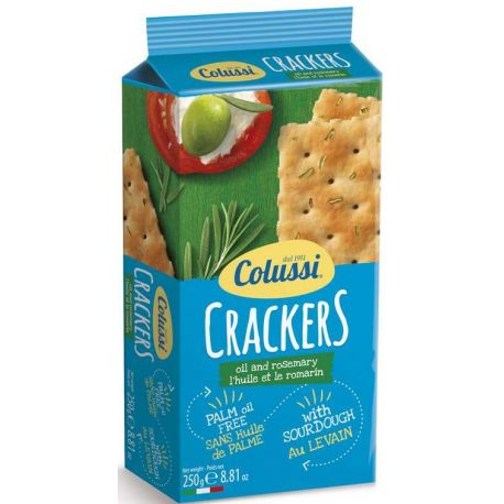 Colussi Crackers with olive oil and rosemary