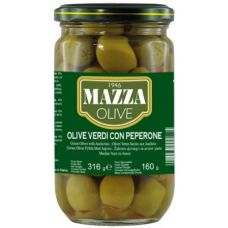 Mazza Stuffed green olives with pepper 314 ml