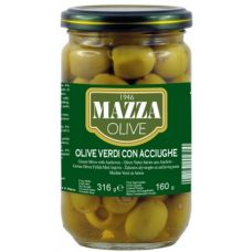 Mazza Stuffed green olives with anchoives 314 ml