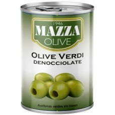 "Mazza Pitted green olives 397 gr ""easy open"""
